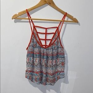 Hollister Indian Aboriginal Lace Crop Top Small